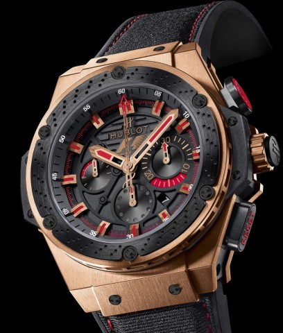 Relógio Hublot King Power F1 King Gold