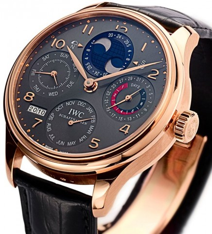 Relógio IWC Portuguese Perpetual Calendar Double Moonphase Red Gold